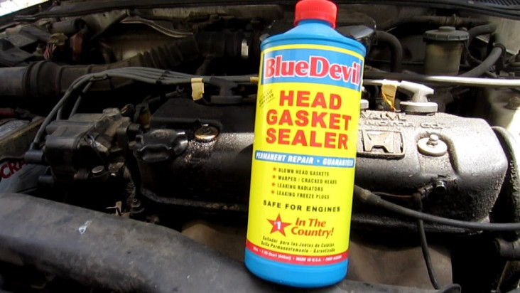 Blue Devil head gasket sealer Autozone